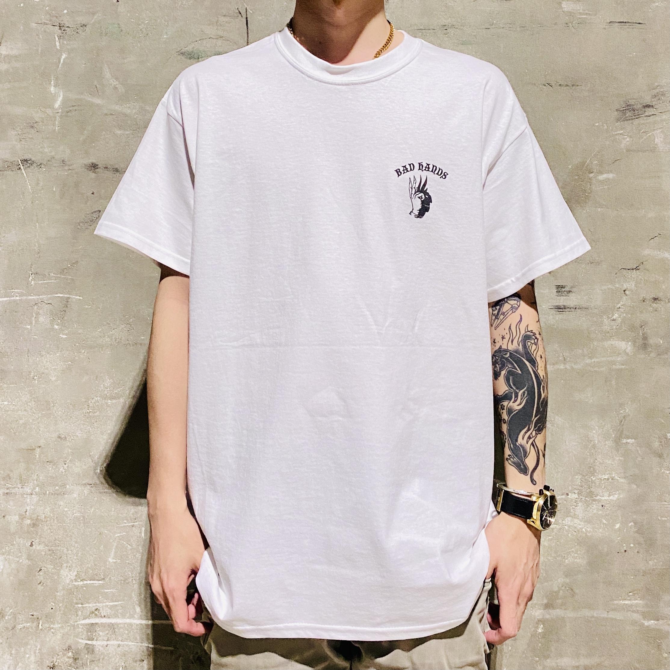 BAD HANDS Simple Logo T-Shirt (White)の写真
